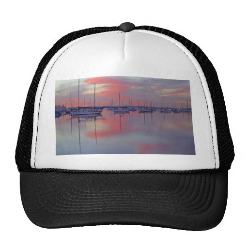 San Diego Bay Seen From The Airport Side At Sunris Trucker Hats