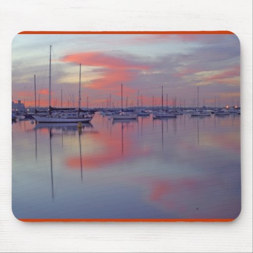 san-diego-bay-seen-from-the-airport-side-at-sunris mousepads