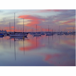 San Diego Bay Seen From The Airport Side At Sunris Standing Photo Sculpture