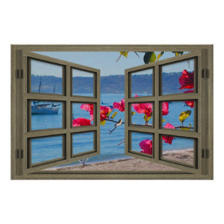 San Diego Bay Through An Open Window Poster