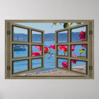 San Diego Bay Through An Open Window Poster