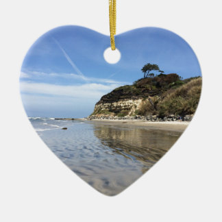 San Diego beach Ceramic Heart Decoration