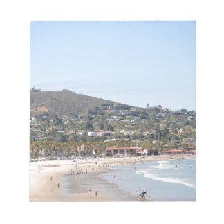 San Diego beach Notepad