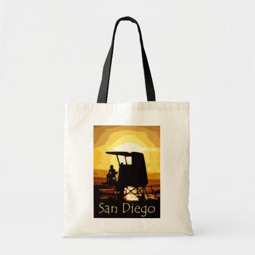 San Diego Beach Sunset Budget Tote Bag