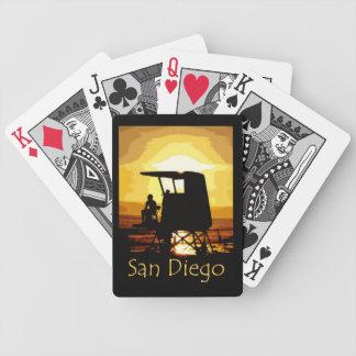 San Diego Beach Sunset Card Decks