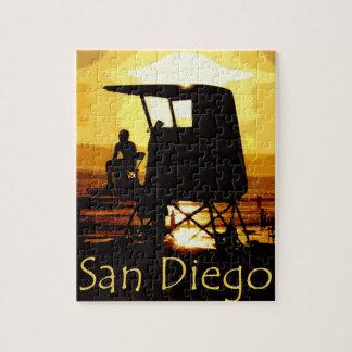 San Diego Beach Sunset Jigsaw Puzzle