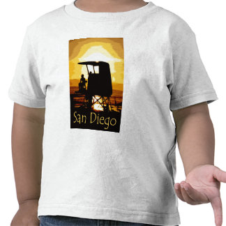 San Diego Beach Sunset Kids T-shirt