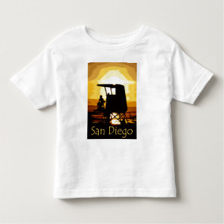 San Diego Beach Sunset Kids T-shirt