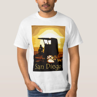 San Diego Beach Sunset Mens T-shirt