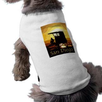 San Diego Beach Sunset Sleeveless Dog Shirt