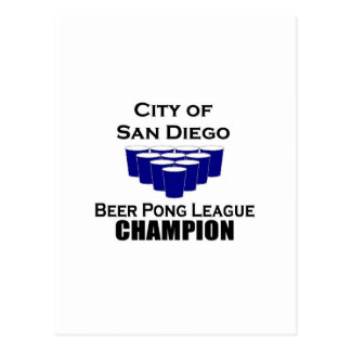 San Diego Beer Pong Champion Postcard