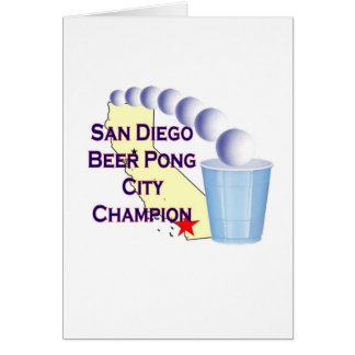 San Diego Beer Pong City Champion Greeting Cards