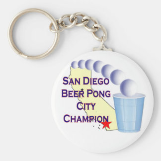 San Diego Beer Pong City Champion Keychains