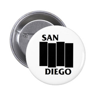 San Diego/Black Flag parody punk button