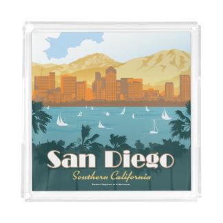 San Diego, CA Acrylic Tray