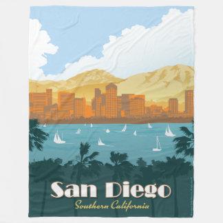 San Diego, CA Fleece Blanket
