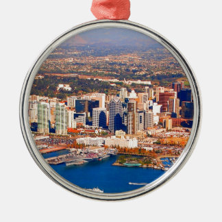 san diego california aerial view christmas ornament