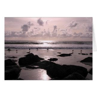 San Diego California beach sunset Card