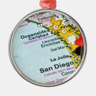 San Diego, California Christmas Ornament
