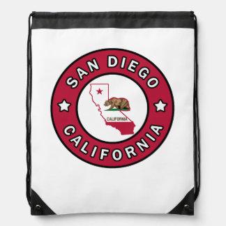 San Diego California Drawstring Bag