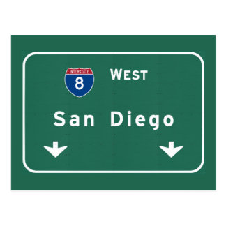 San Diego California Interstate Highway Freeway : Postcard