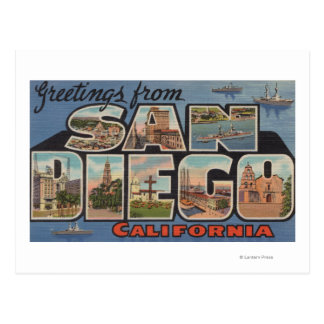 San Diego, California - Large Letter Scenes Postcard