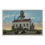 San Diego, California - Old Spanish Lighthouse Poster