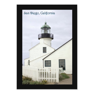 San Diego California Point Loma 13 Cm X 18 Cm Invitation Card