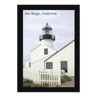 San Diego California Point Loma 5x7 Paper Invitation Card