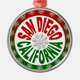 San Diego California red green ornament