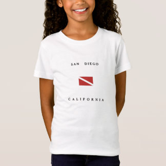San Diego California Scuba Dive Flag T-Shirt