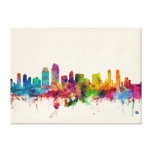 San Diego California Skyline Gallery Wrapped Canvas