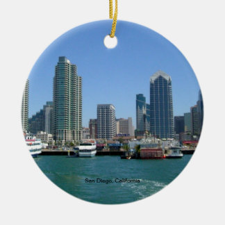 San Diego, California Skyline Christmas Ornament