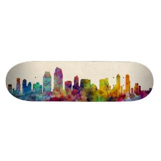 San Diego California Skyline Custom Skateboard