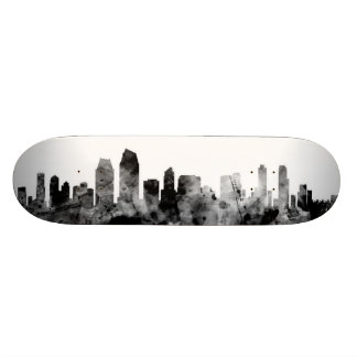 San Diego California Skyline Skateboard Deck