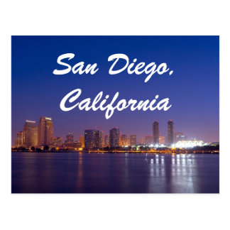 San Diego California Skyline Sunrise Postcard
