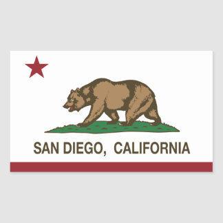 San Diego California state flag Rectangular Sticker