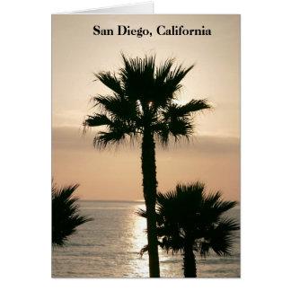 San Diego California Sunset Greeting Card