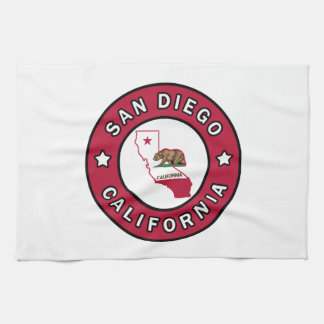 San Diego California Tea Towel