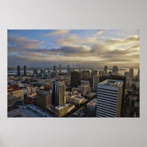 San Diego California (USA) at dusk poster