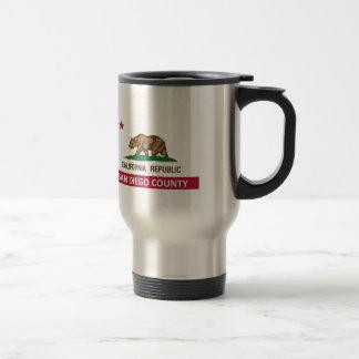 San Diego County California Stainless Steel Travel Mug