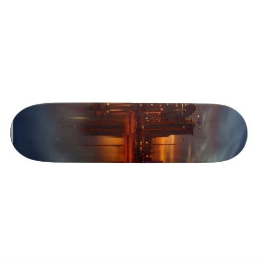 San Diego Docks Night Custom Skate Board