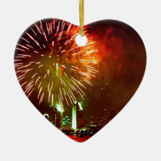 San Diego fireworks Christmas Ornament