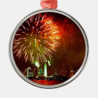 San Diego fireworks Silver-Colored Round Decoration