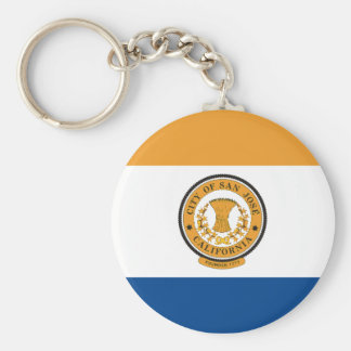 San Diego Flag Basic Round Button Key Ring