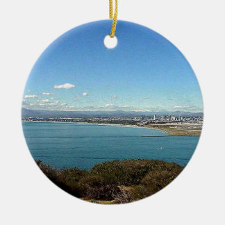 San Diego From The Cabrillo Statue Christmas Ornament