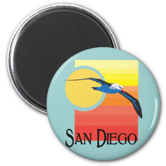 San Diego Gull 6 Cm Round Magnet