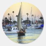 San Diego Harbour Marina Round Stickers