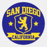 San Diego Heraldry Round Stickers