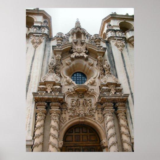san diego historic church poster
